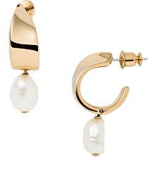 Bájos aranyozott fülbevalók valódi gyöngyökkel Agnethe SKJ1394710