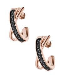 Rózsaszín aranyozott acél fülbevaló SKJ1275998