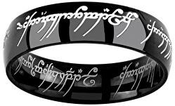 Černý ocelový prsten moci z filmu Pán prstenů RRC5623