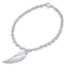 Jemný ocelový náramek s přívěskem Andělské křídlo KMMB69550