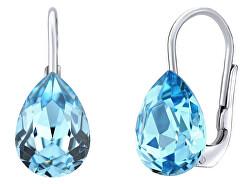 Strieborné náušnice s modrými Swarovski ® Crystals SILVEGOVSW080E