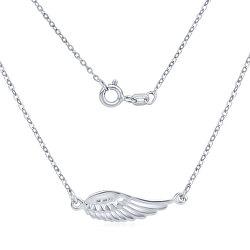 Strieborný náhrdelník Anjelské krídlo SMJN13FC4ZT