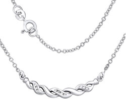 Strieborný náhrdelník ASPEN sa zirkónmi ZTJ41031