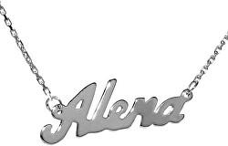 Strieborný náhrdelník s menom Alena