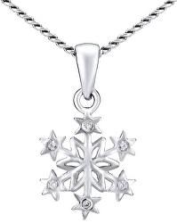 Strieborný náhrdelník Snehová vločka ZTJ81189VSW (retiazka, prívesok)