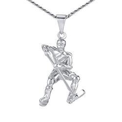 Stříbrný přívěsek Hokejista JJJ1985