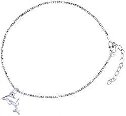 Stříbrný řetízek na nohu s delfínem ZT151095VSW