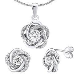 Stříbrný set šperků se zirkony Rosalyn JJJS0088 (náušnice, přívěsek)