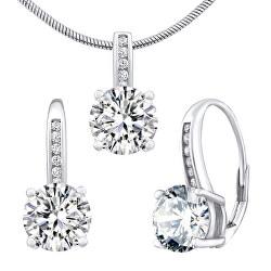 Stříbrný set šperků Verity LPS1335ES (náušnice, přívěsek)