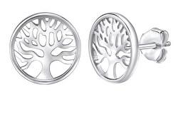 Stylové stříbrné náušnice Strom života JJJ851E