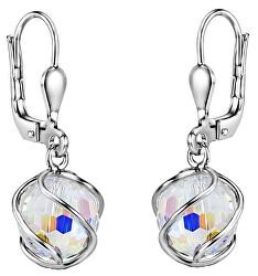 Trblietavé visiace náušnice sa Swarovski ® Crystals SILVEGOB31644
