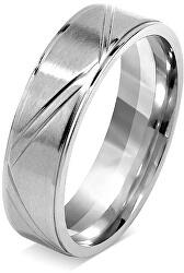 Snubný prsteň pre mužov a ženy z chirurgickej ocele RRC0465