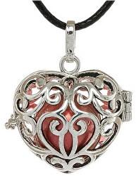 Dámský náhrdelník červená rolnička Srdce K11SC18
