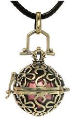 Dámsky náhrdelník červená Rolnička Vintage K14ZC18