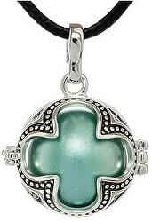 Dámský náhrdelník modrá metalická Rolnička Čtyřlístek K16SMM18