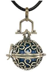 Dámský náhrdelník modrá Rolnička Vintage K14ZM18