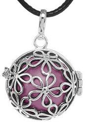 Dámský náhrdelník Rolnička Malé kytičky - fialová K2SF18