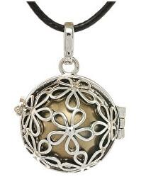 Dámsky náhrdelník Rolnička Malé kytičky - hnedá K2SH18