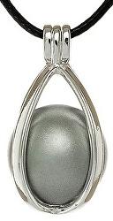 Dámský náhrdelník šedá Rolnička Kapka K6SS18
