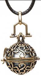 Dámsky náhrdelník sivá Rolnička Vintage K14ZS18