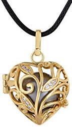 Pozlacený náhrdelník Rolnička Srdíčko K13ZH18