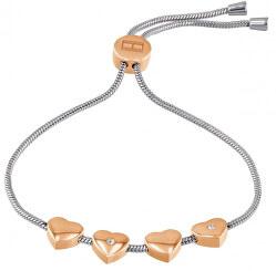 Zweifarbiges Armband mit Herzen TH2780122