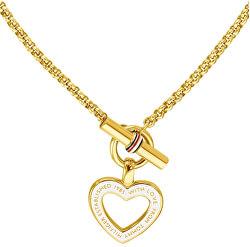 Dámský pozlacený náhrdelník se srdcem TH2780157