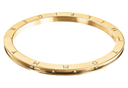 elegantes vergoldetes Stahlarmband mit Kristallen TH2780203