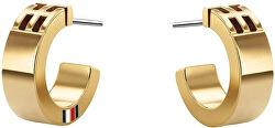 Fashion pozlacené náušnice kruhy TH2780418