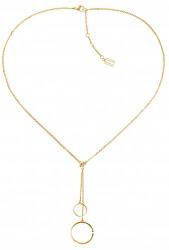 Moderné pozlátený náhrdelník TH2780151