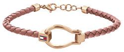 Divatos rózsaszín bőr karkötő 2780399