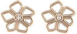 Něžné bronzové náušnice pecky TH2780374