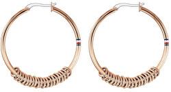 Aranyozott acél karika fülbevaló TH2780216