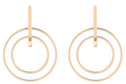 Ocelové pozlacené náušnice kruhy TH2780319