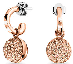 Aranyozott acél fülbevaló kristályokkal TH2700841