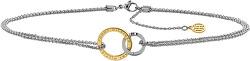 Ocelový náhrdelník se spojenými kruhy TH2780015