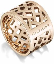 Originální pozlacený prsten z oceli TH2700744