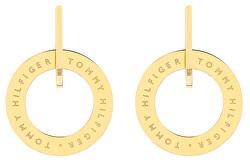 Pozlacené ocelové náušnice kruhy TH2780318
