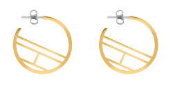 Pozlacené ocelové náušnice kruhy TH2780329