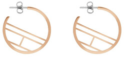 Pozlacené ocelové náušnice kruhy TH2780330