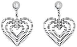 Romantické ocelové náušnice Srdce TH2780406