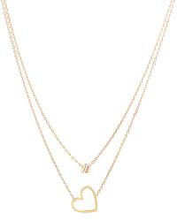 Romantický pozlacený náhrdelník Srdce TH2780402