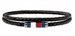 Stylový černý kožený náramek TH2790056