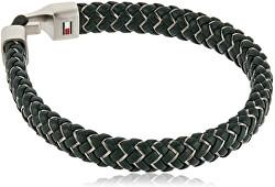 Tmavo zelený kožený náramok TH2790059