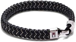 Trendy čierny kožený náramok TH2790058