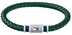 Trendy zelený kožený náramek TH2790084