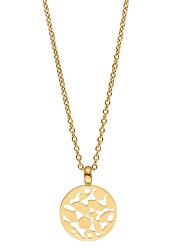 Pozlacený náhrdelník Cataleya s přívěskem TJ155