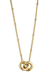 Pozlátený náhrdelník Emily sa zirkónmi TJ222