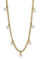 Pozlacený náhrdelník Franka s perlami TJ175