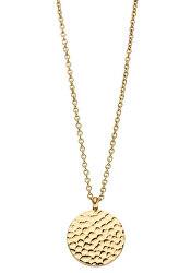 Pozlacený náhrdelník Vicky s kulatým přívěskem TJ094